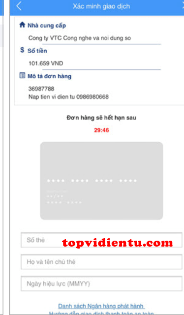 cách Nạp tiền vào ví VTC Pay