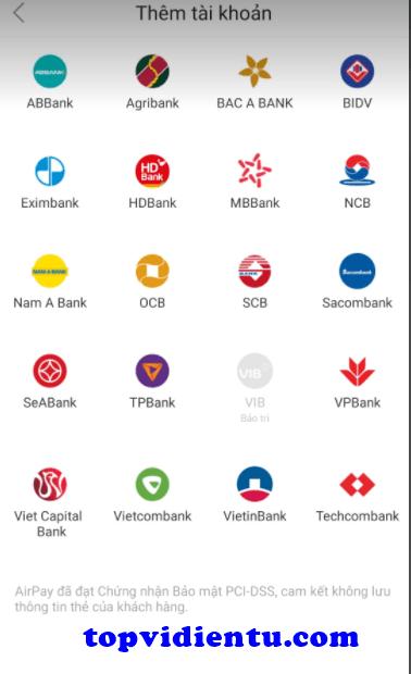 cách liên kết ví AirPay với Vietcombank trên Shopee