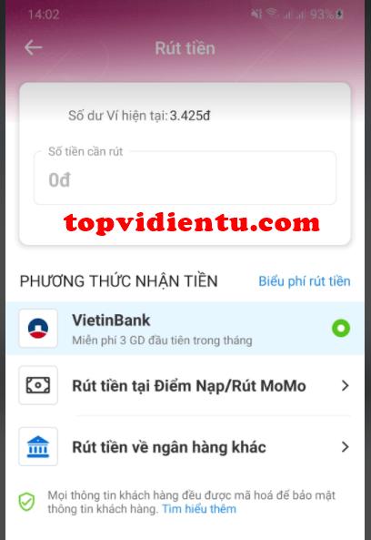 chuyển tiền từ MoMo sang tài khoản ngân hàng liên kết của mình