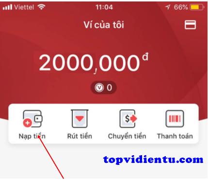 Nạp tiền VinID tại VinMart