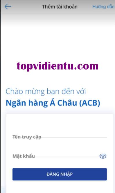 Hướng dẫn cách liên kết airpay với ACB