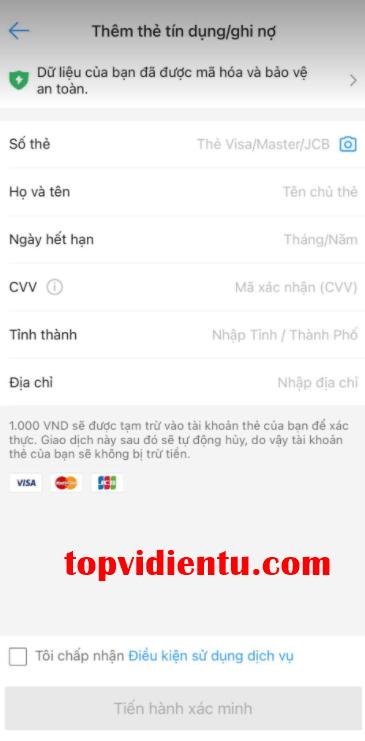 Cách liên kết airpay với sacombank visa