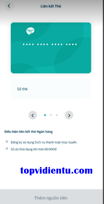 Cách liên kết ngân hàng với smartpay