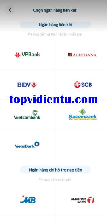 SmartPay liên kết với ngân hàng nào