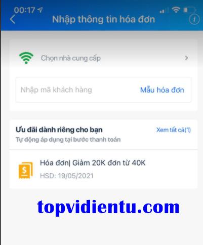 cách thanh toán internet viettel qua zalopay